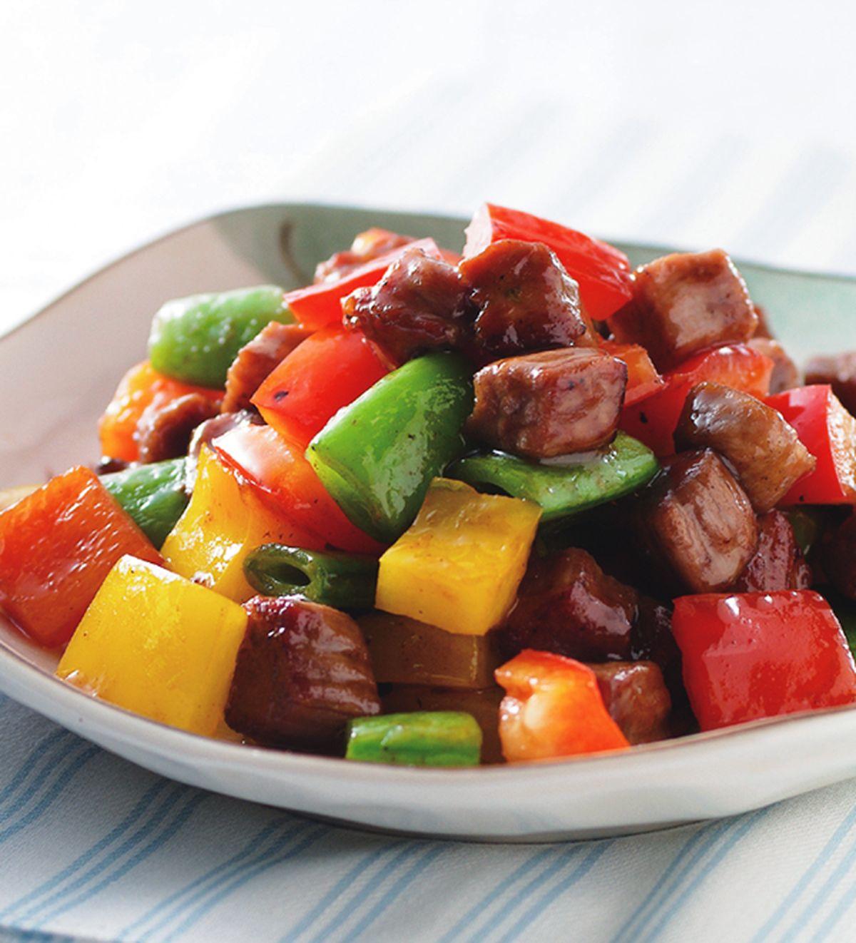 食譜:彩椒牛肉粒