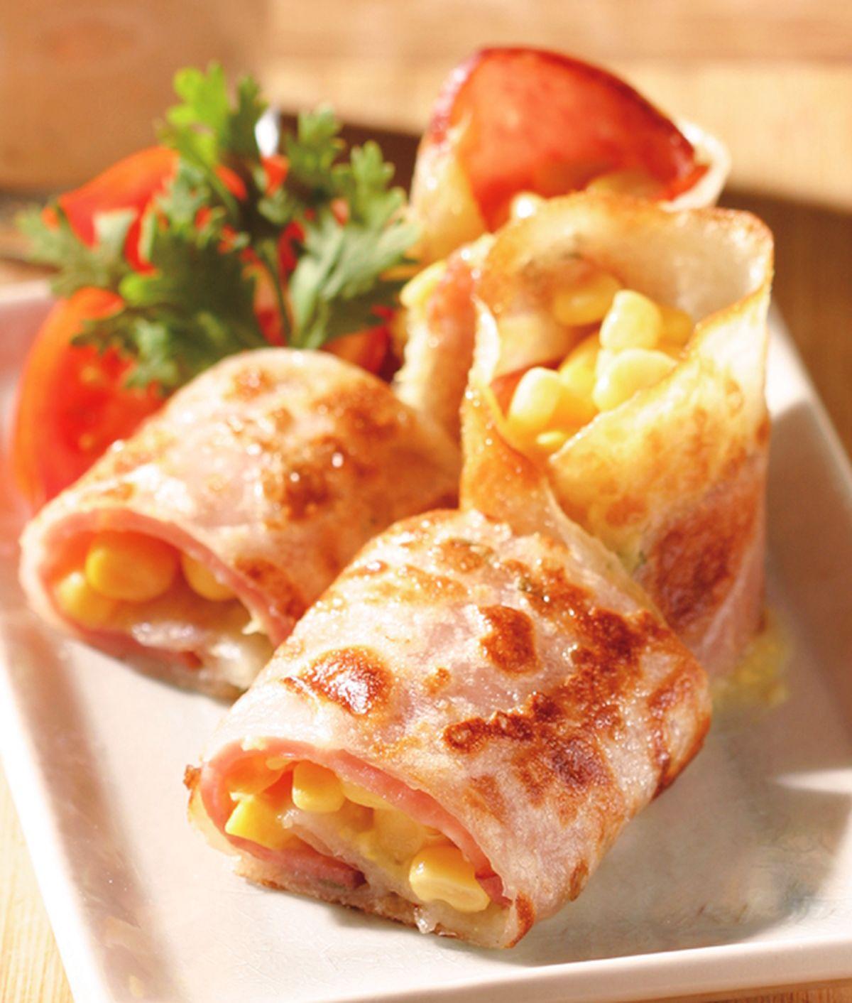 食譜:火腿玉米蛋餅