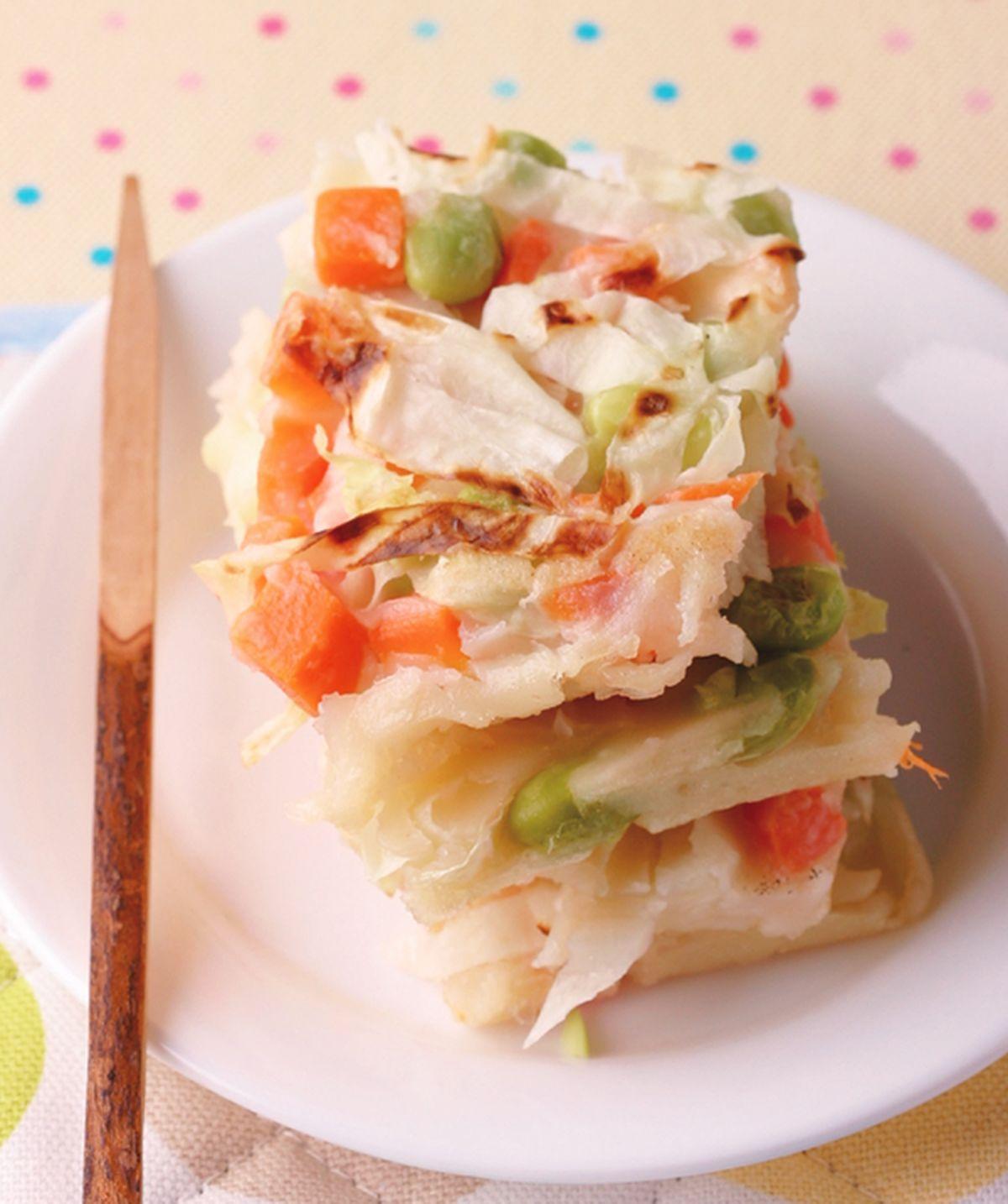 食譜:蔬菜蛋餅燒