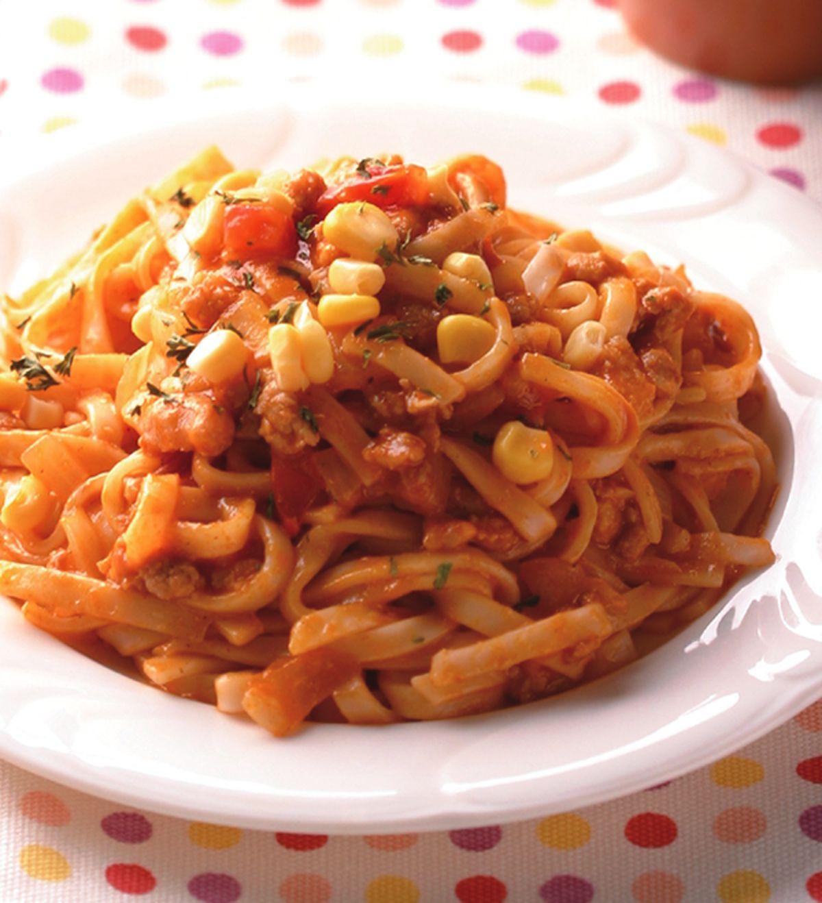 食譜:番茄麵醬鐵板麵