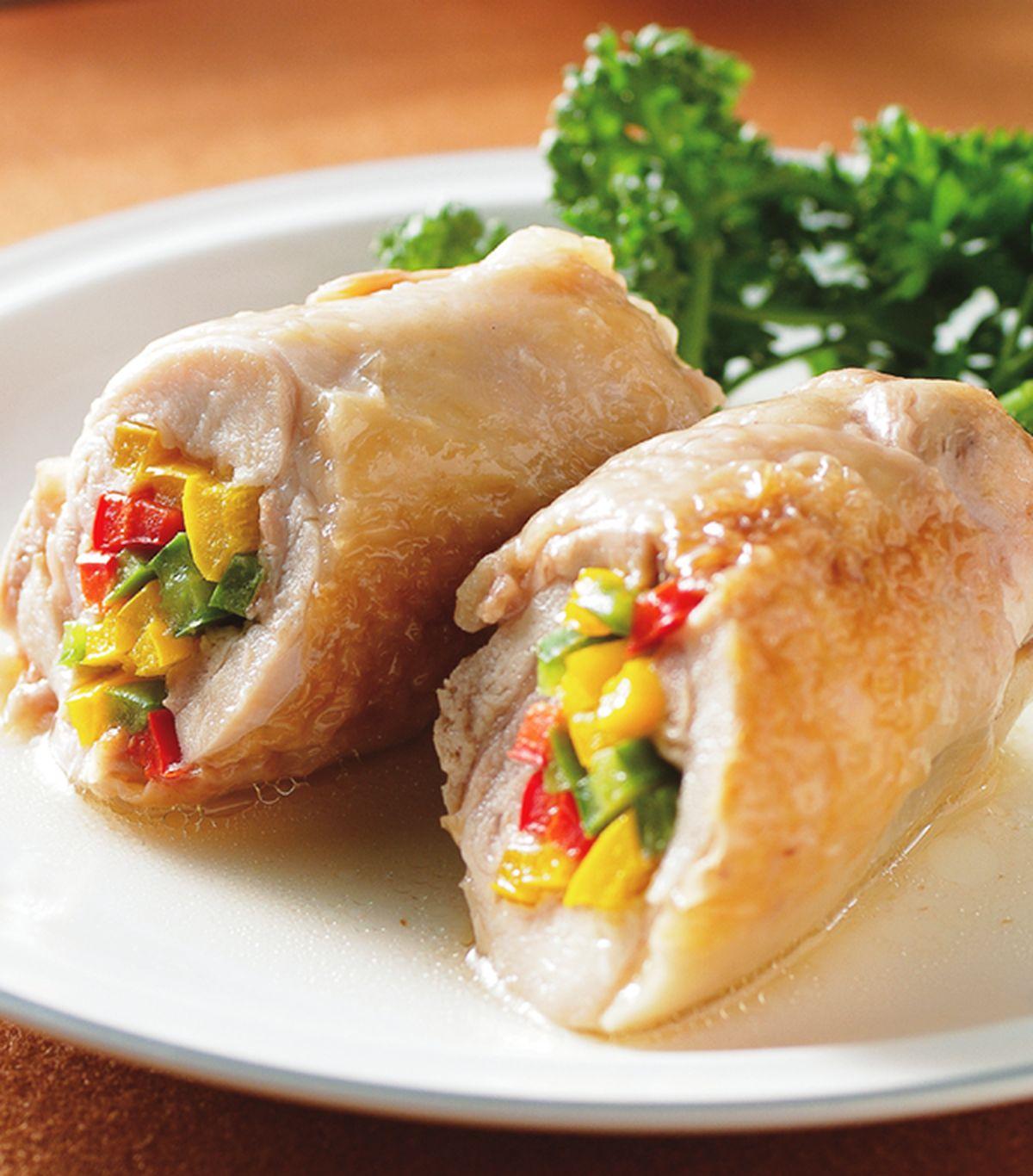 食譜:蔬烤雞腿卷