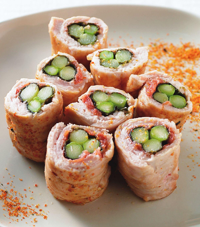 食譜:紫蘇梅海苔蘆筍里肌卷