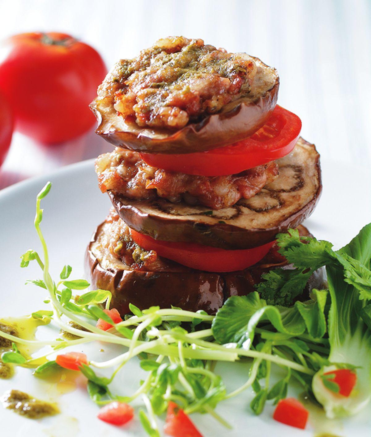 食譜:肉末鮮烤圓茄