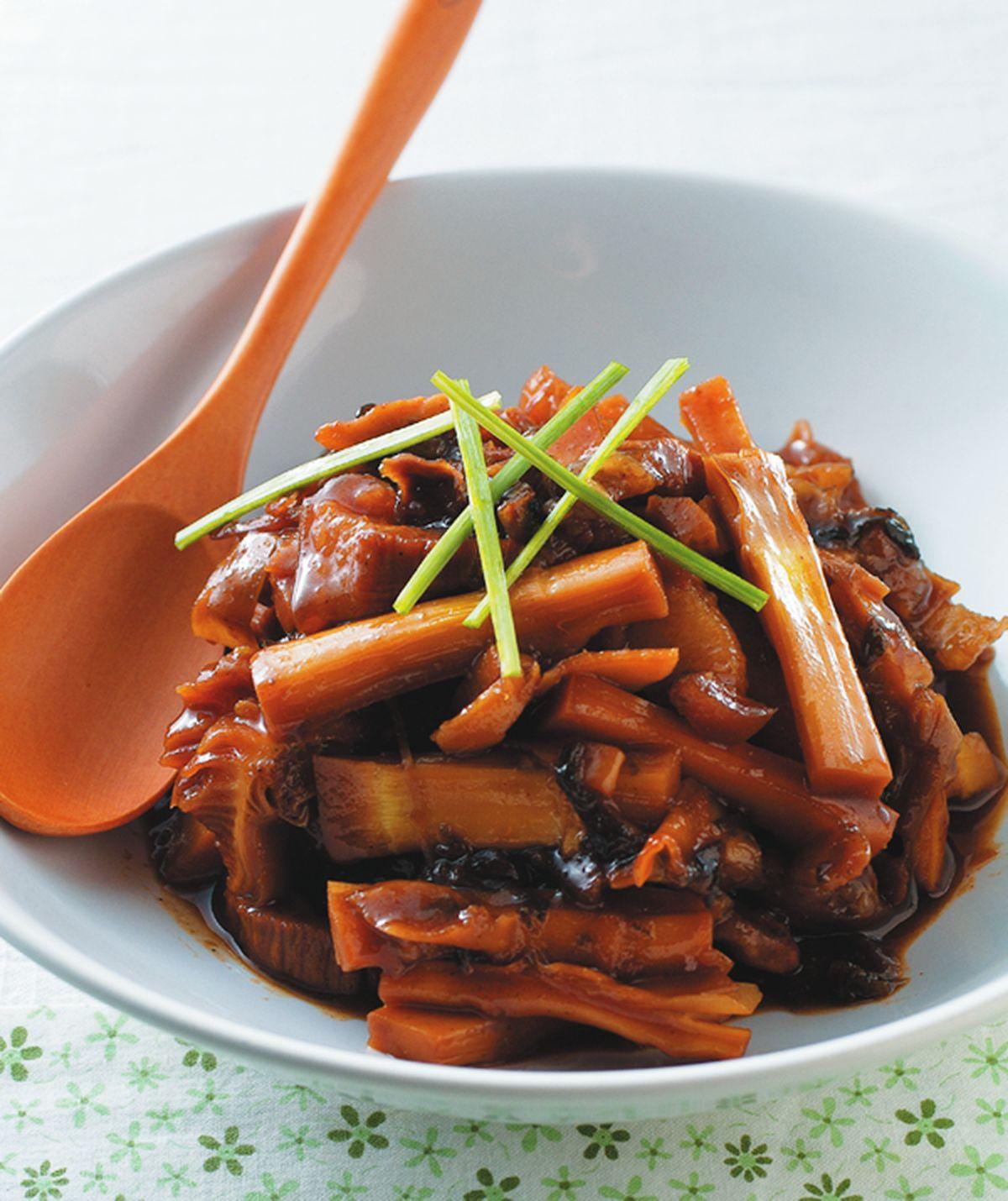 食譜:桂竹筍滷梅乾菜