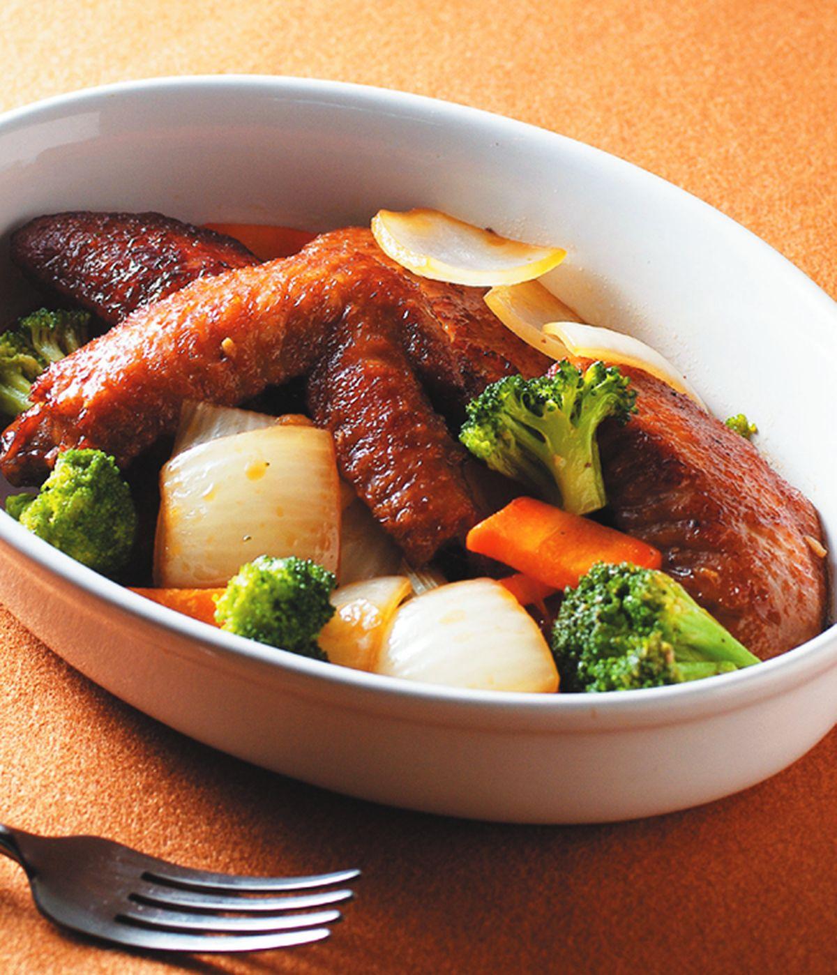 食譜:青蔥燒滷雞翅