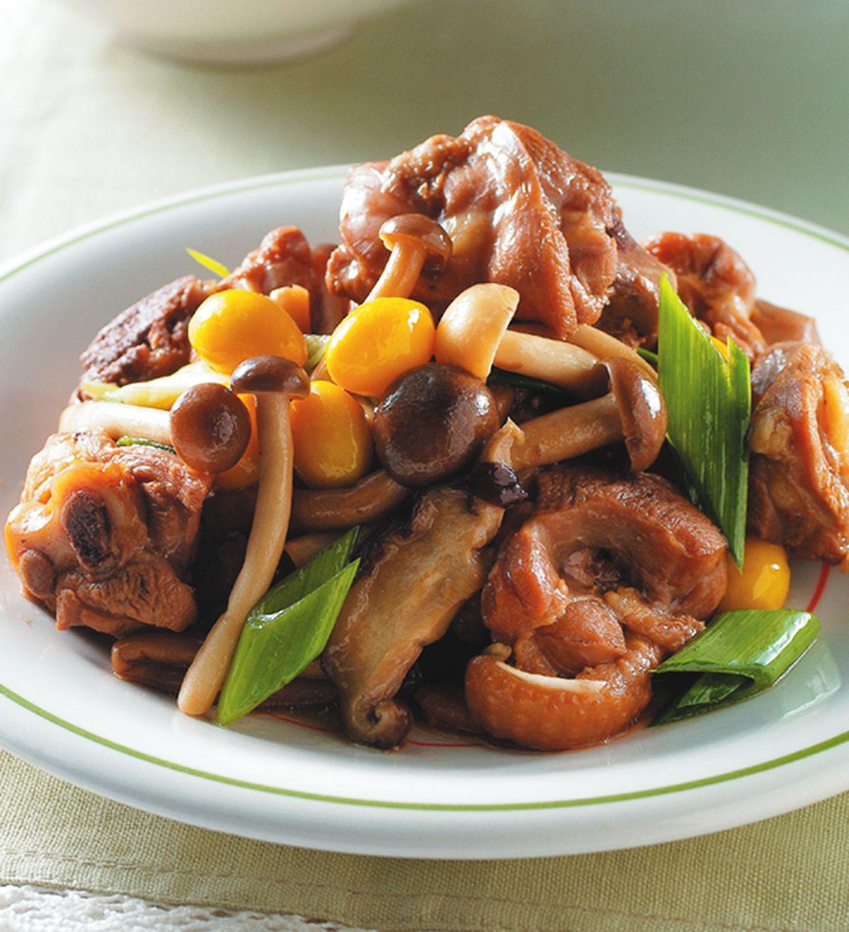 食譜:野菇燒滷雞塊