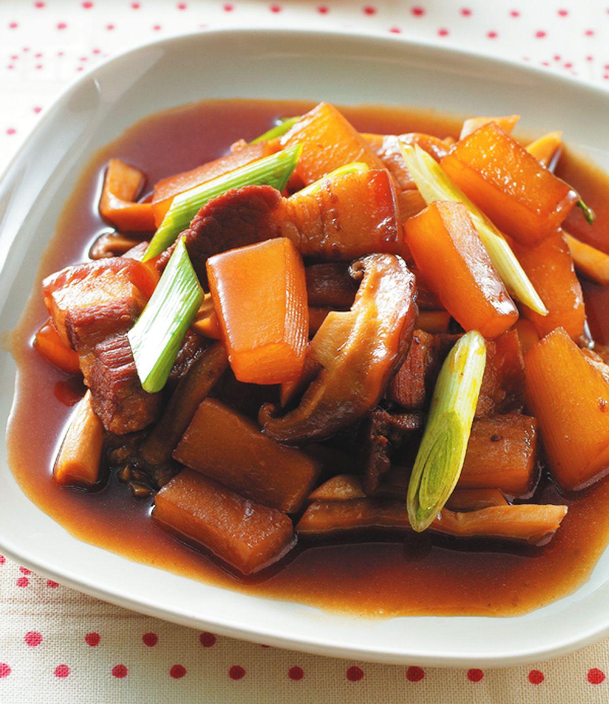 食譜:蘿蔔滷野菇