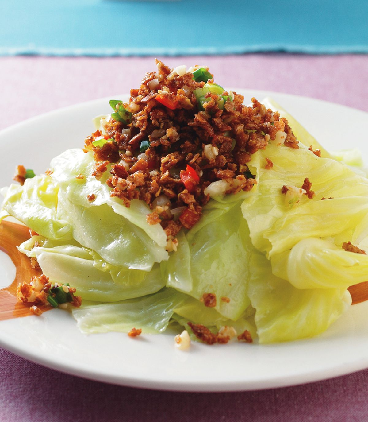 食譜:豆酥高麗菜(1)