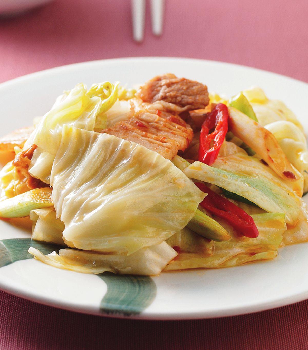 食譜:回鍋肉炒高麗菜