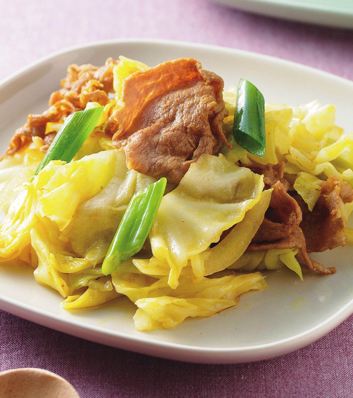 食譜:咖哩高麗菜