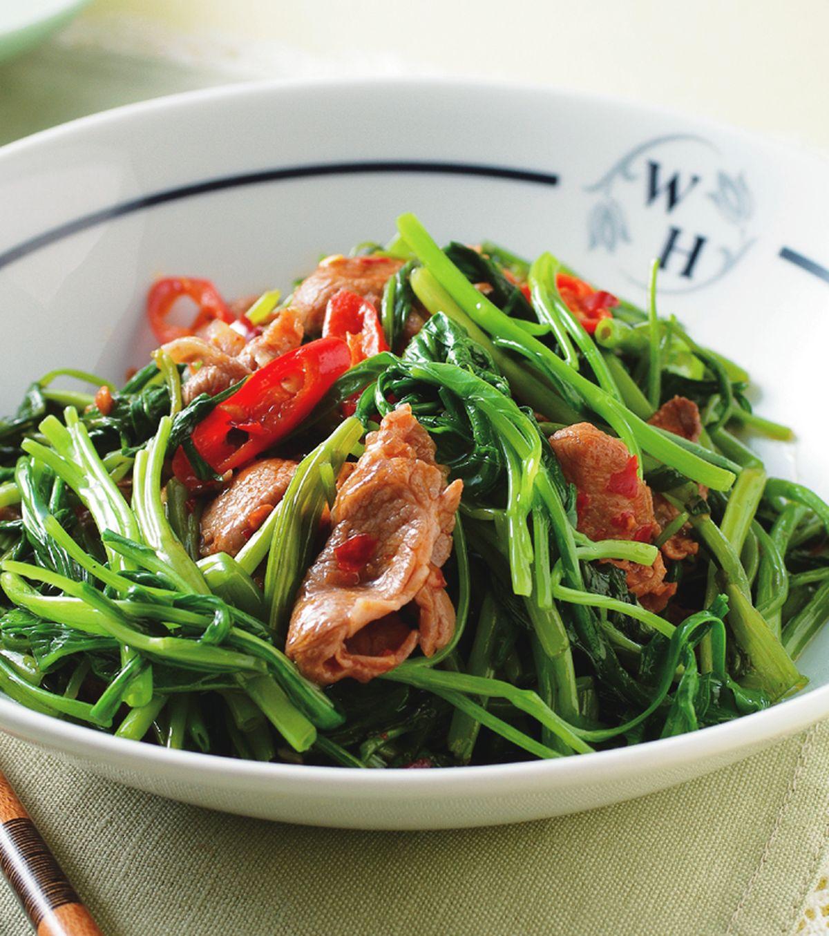 食譜:辣炒羊肉空心菜