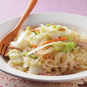 白菜炒冬粉