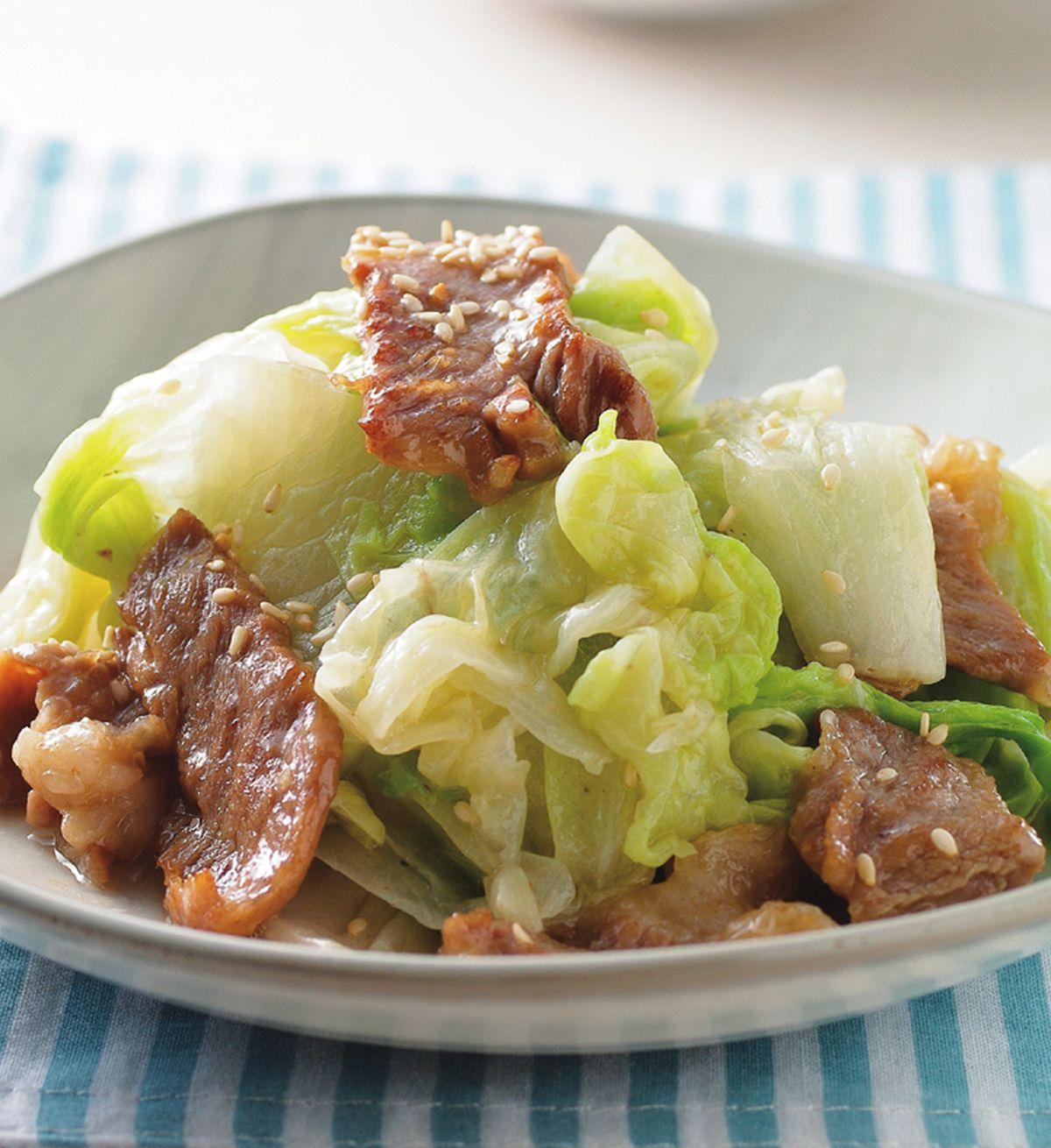 食譜:燒肉白菜