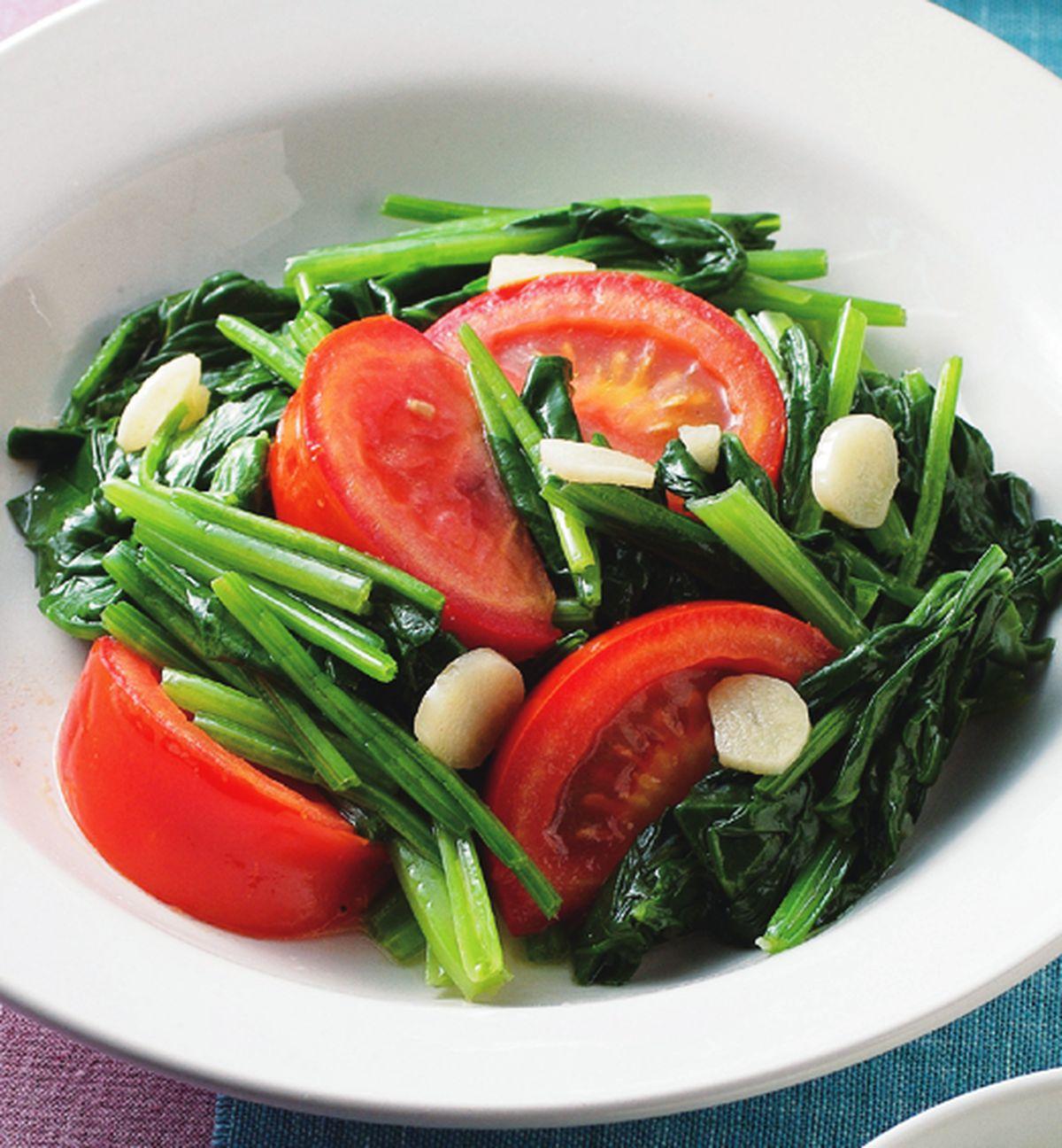 食譜:蕃茄炒菠菜