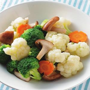 雙色花椰炒鮮菇