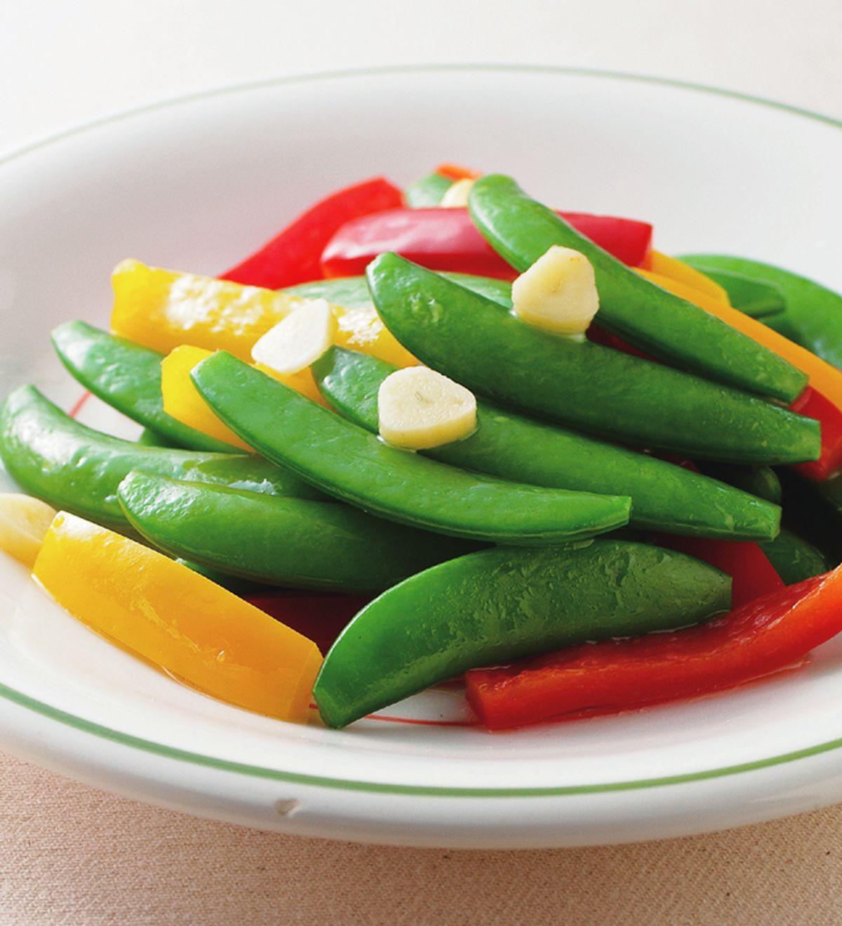 食譜:甜豆炒彩椒