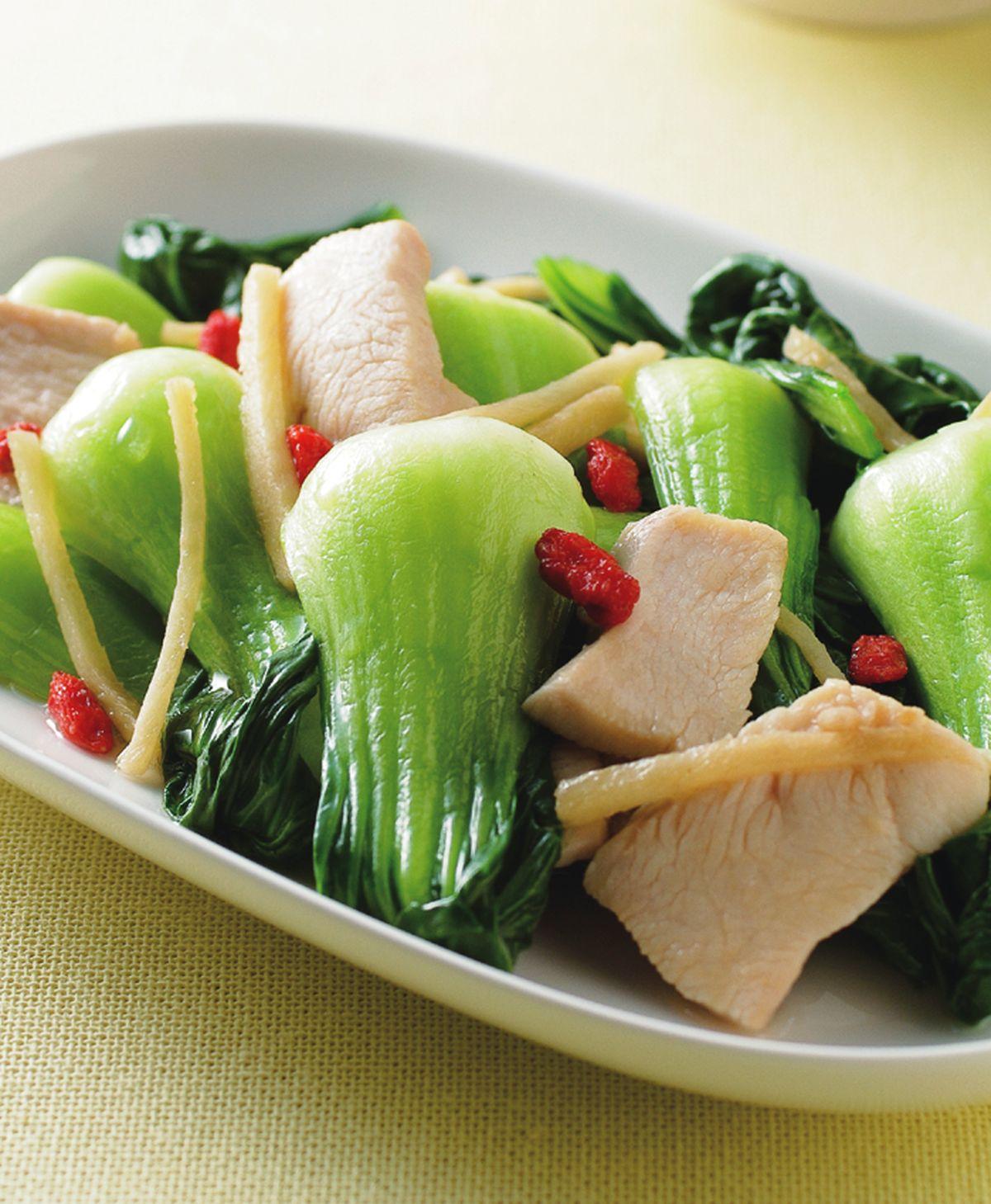食譜:麻油青江炒雞片
