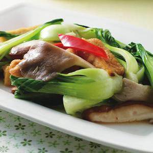 青江菜雙菇炒豆腐