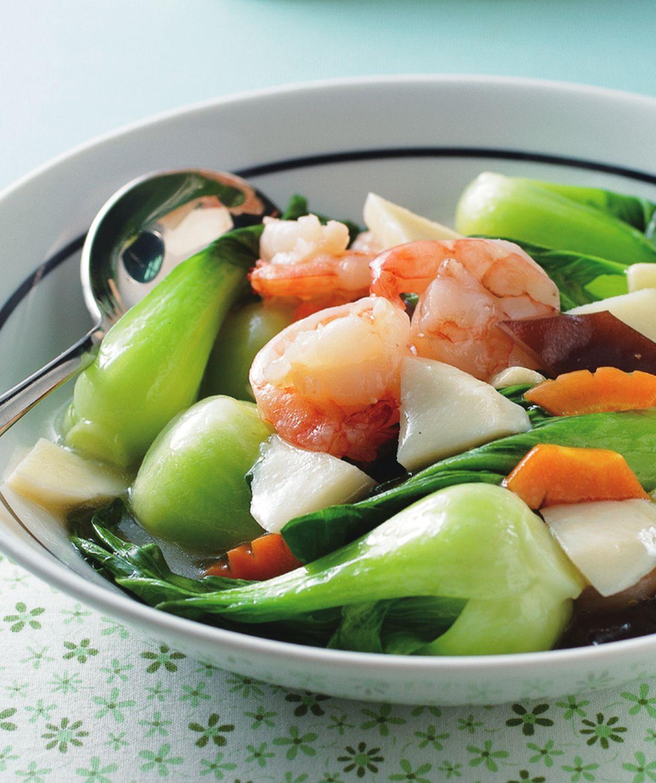 食譜:蝦仁青江菜
