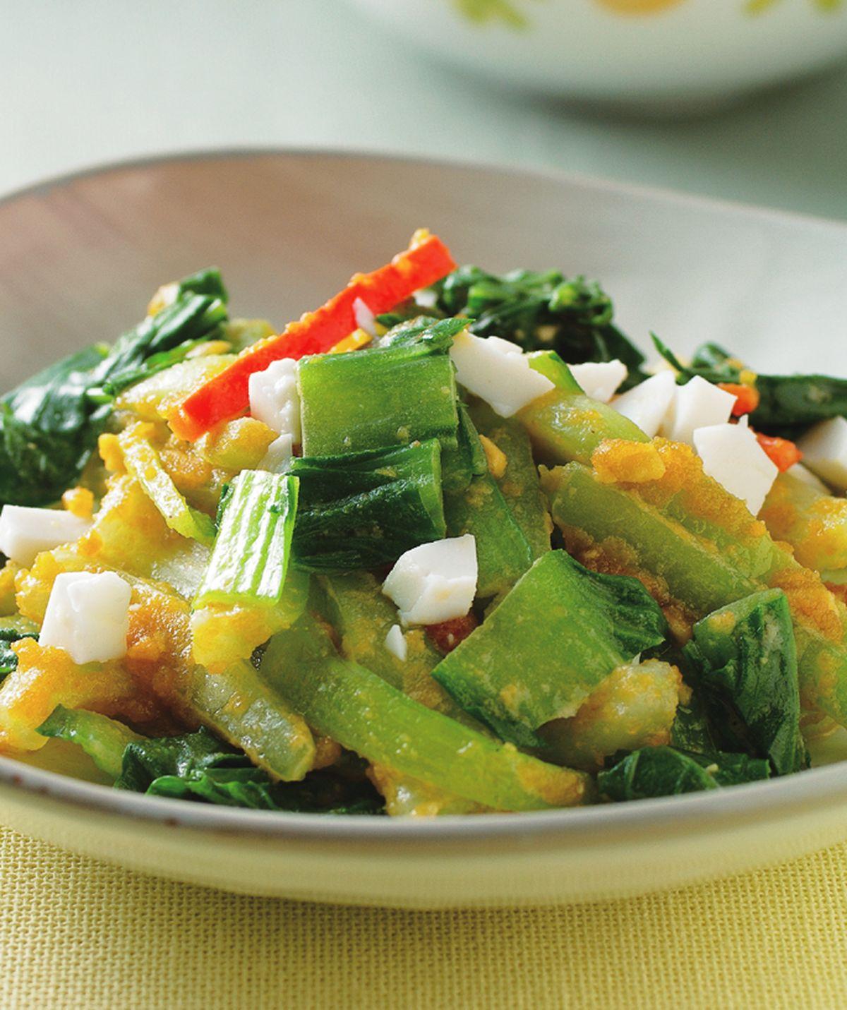 食譜:鹹蛋青江菜