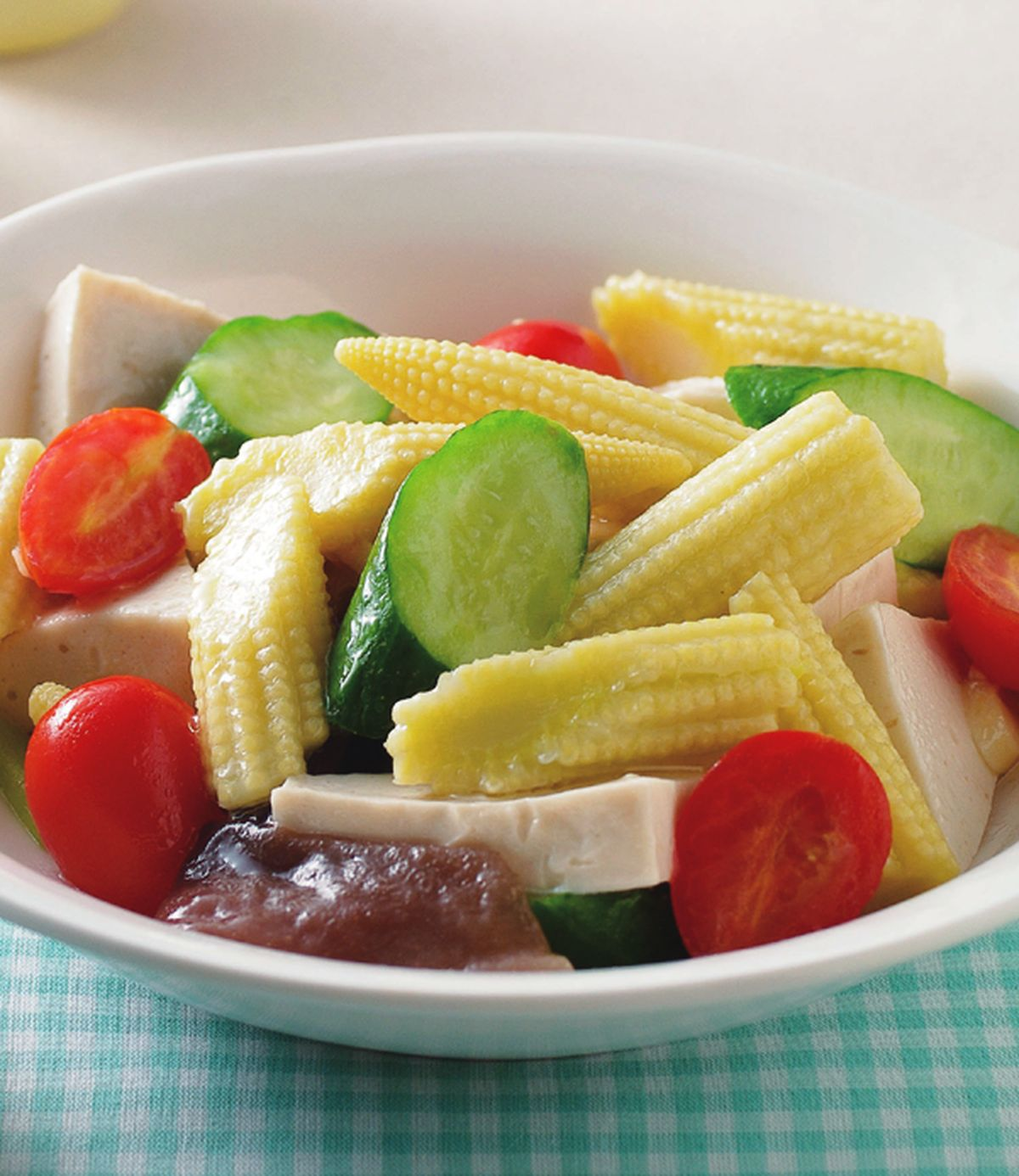 食譜:玉米筍炒百頁豆腐