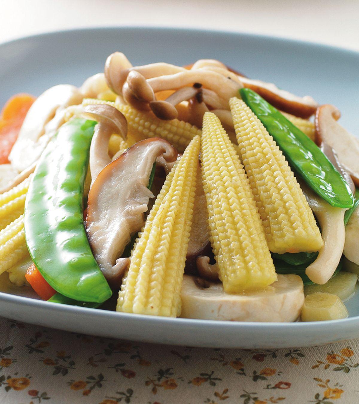 食譜:玉米筍炒百菇