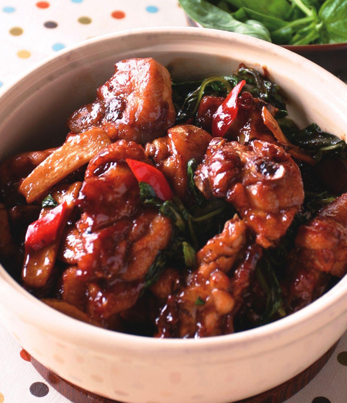 食譜:塔香三杯雞