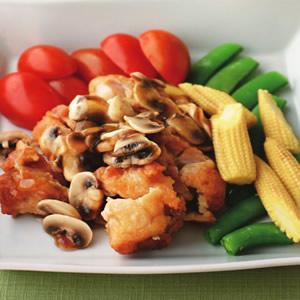 香煎蘑菇雞排