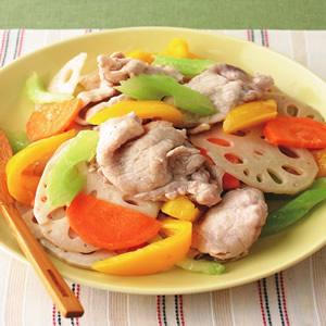 根莖蔬菜炒肉