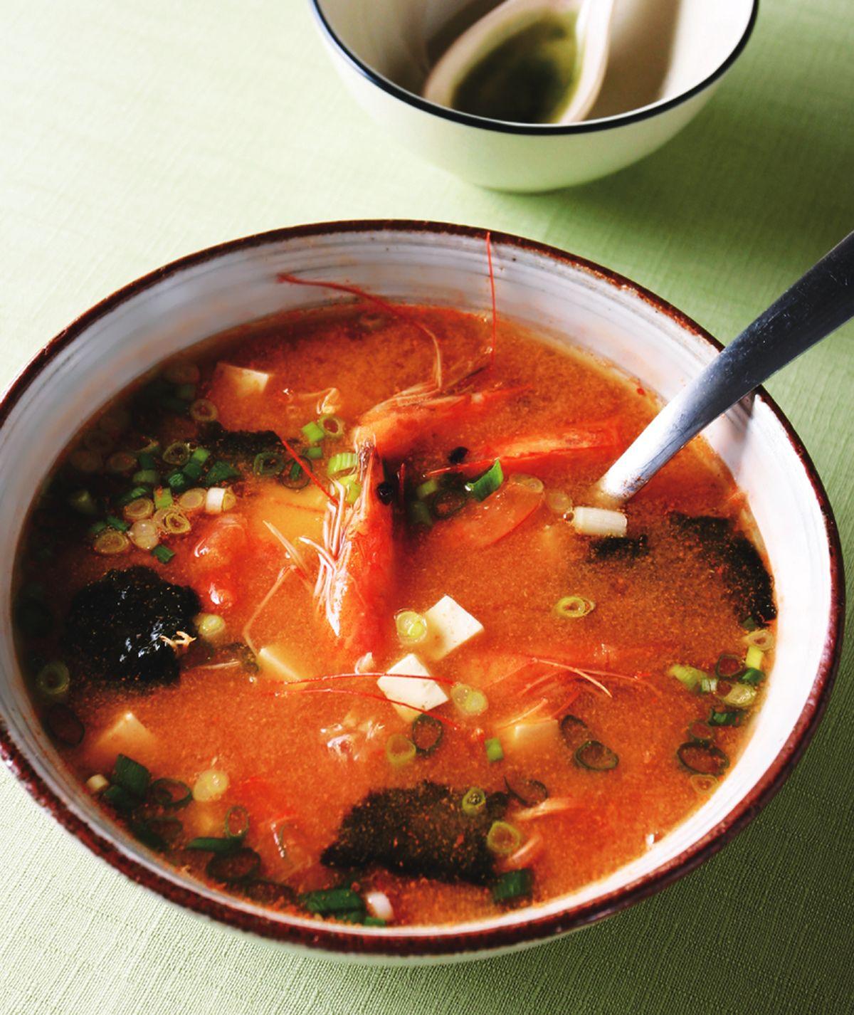 食譜:蝦頭味噌湯