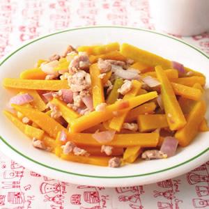 絞肉炒南瓜
