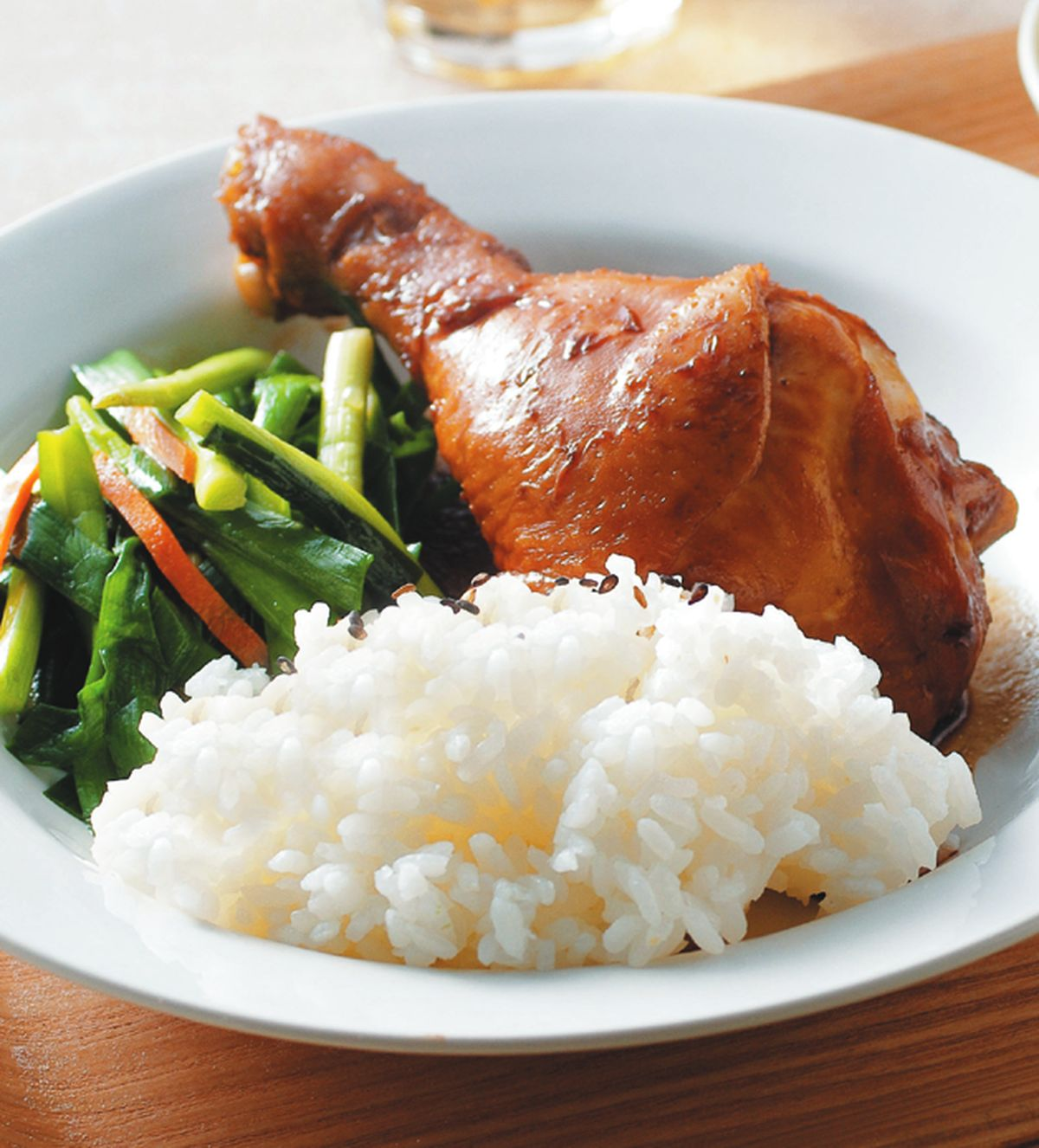 食譜:蜜汁雞腿飯