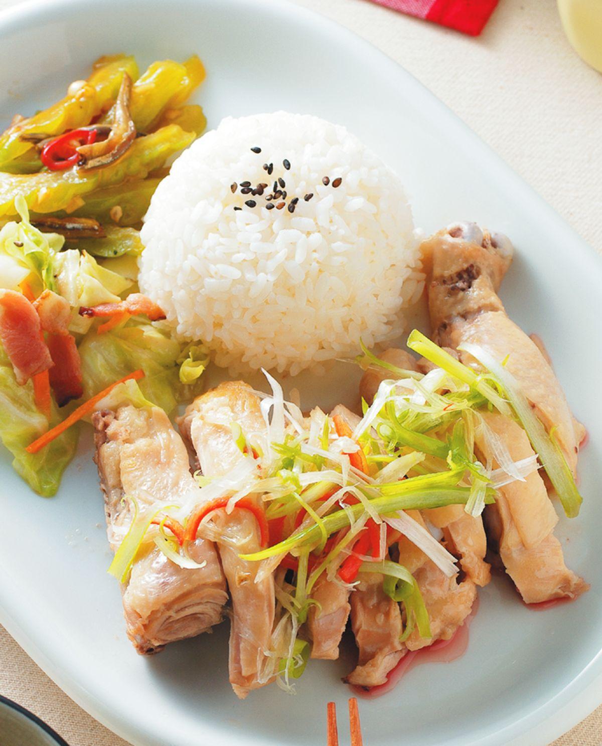 食譜:蔥油雞腿飯
