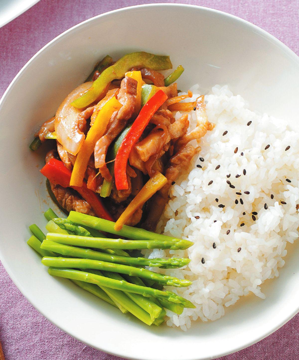 食譜:京醬肉絲飯