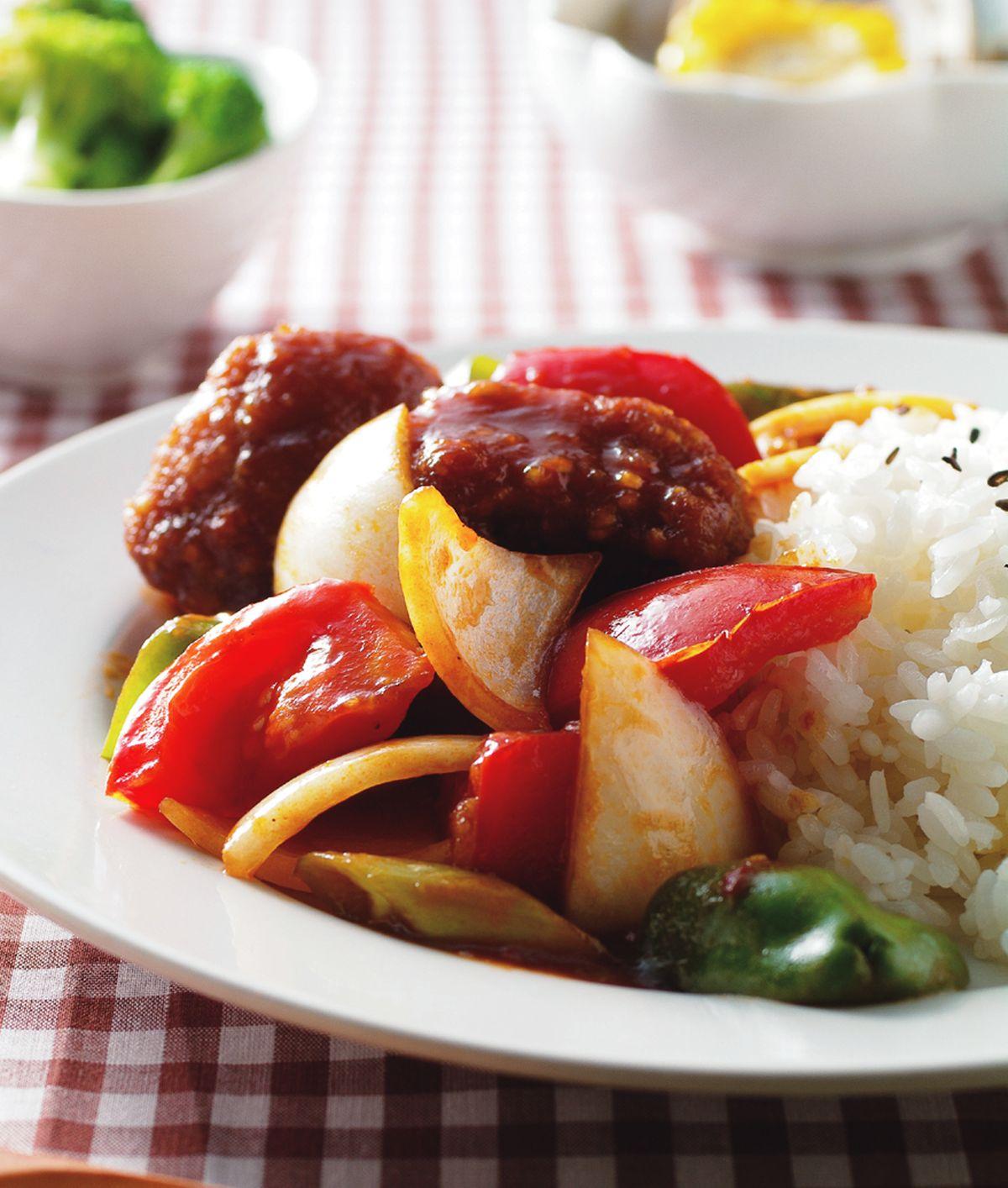 食譜:茄汁咕咾肉飯