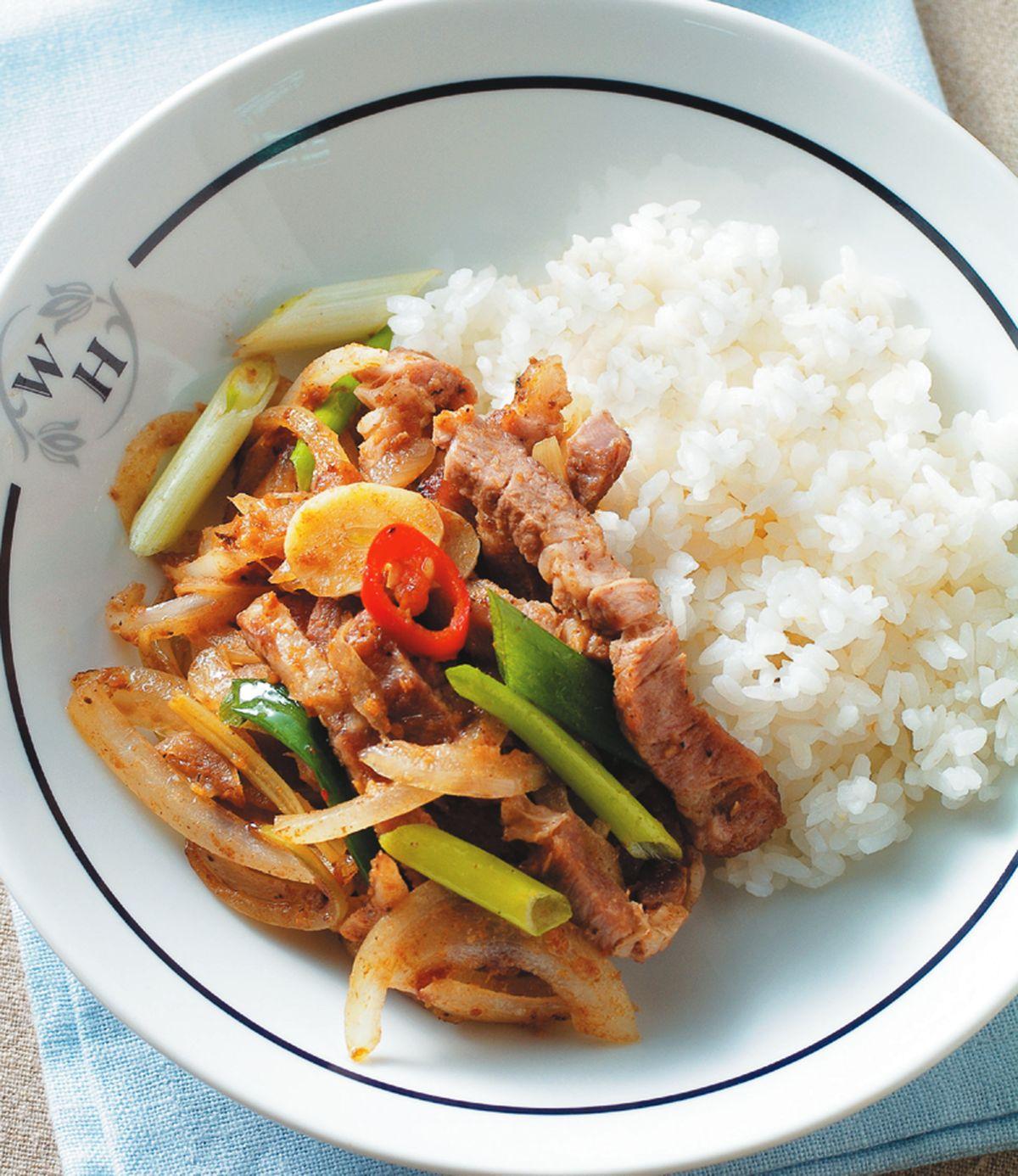 食譜:洋蔥炒鹹豬肉
