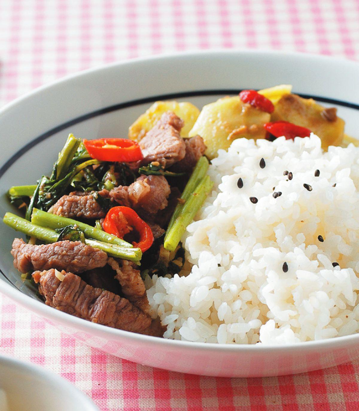 食譜:沙茶牛肉飯