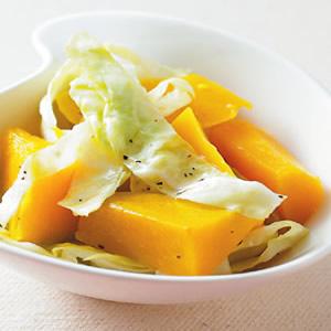 南瓜拌高麗菜