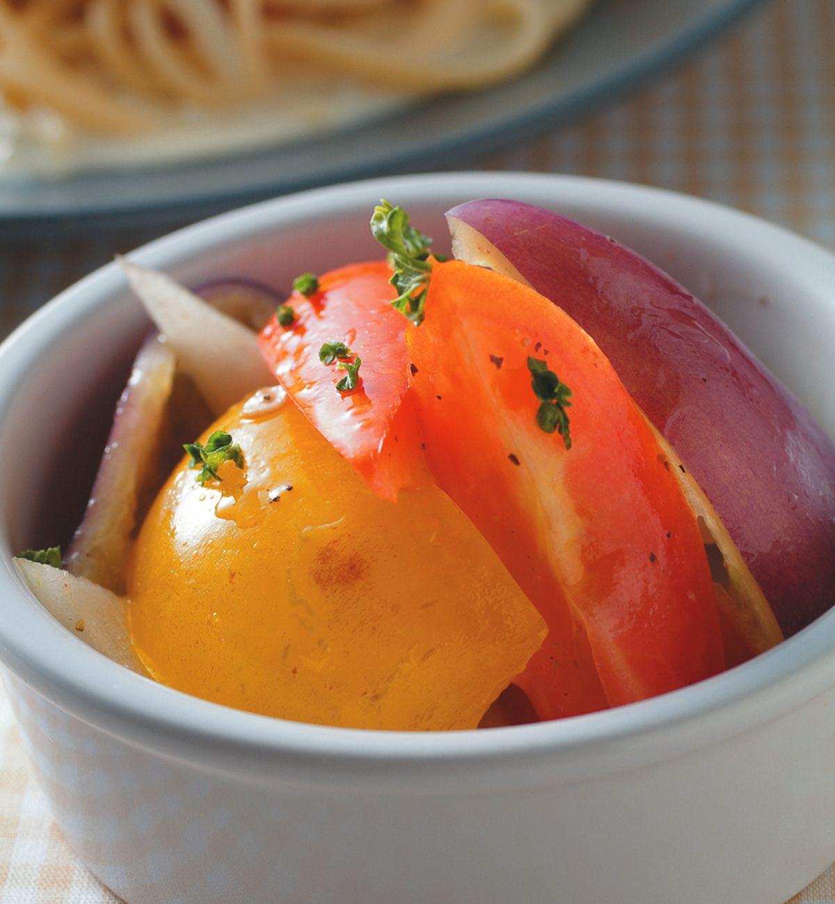 食譜:油醋彩椒