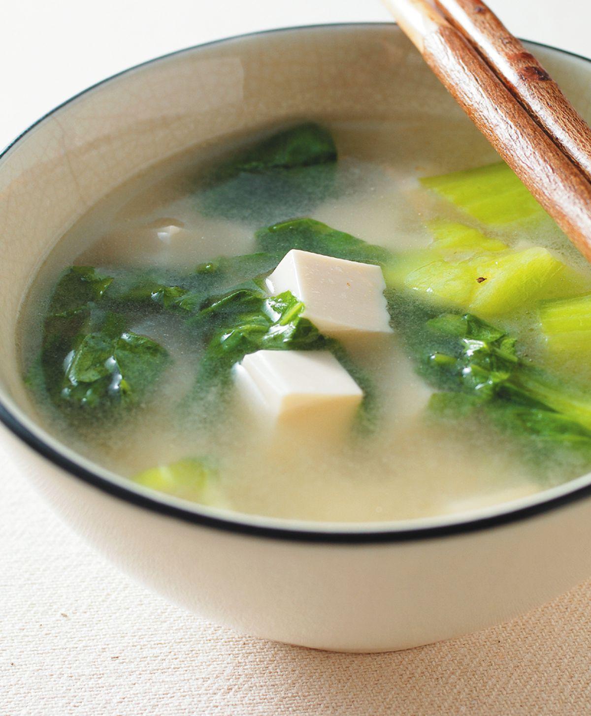 食譜:青菜豆腐湯