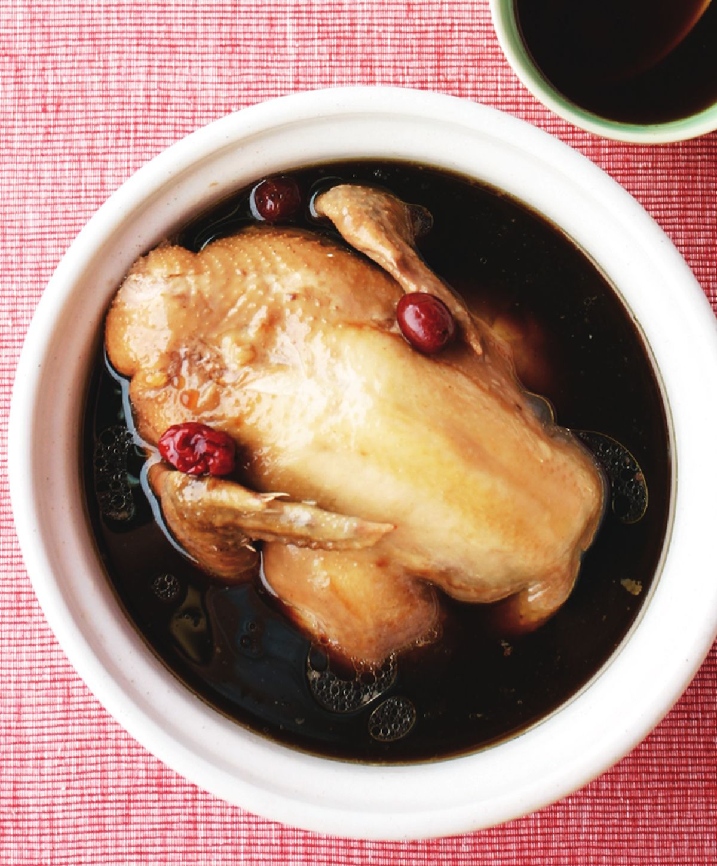 食譜:八寶雞湯