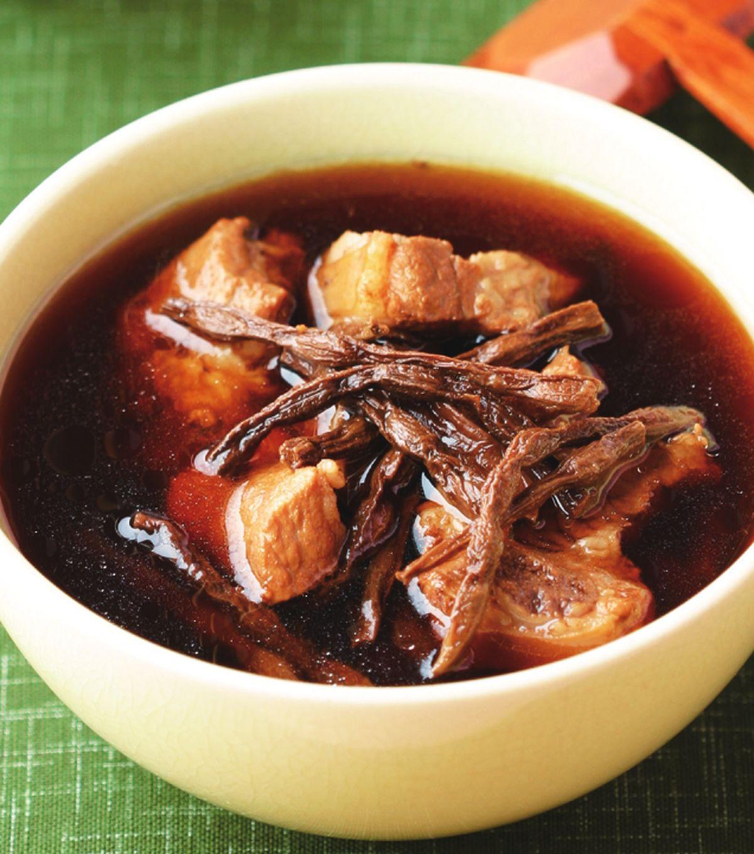 食譜:菜豆乾排骨湯