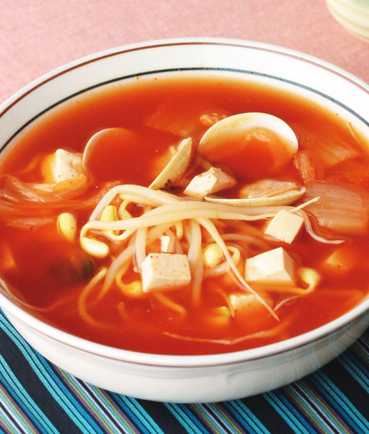 食譜:黃豆芽蛤利辣湯