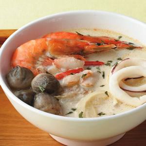 草菇海鮮湯