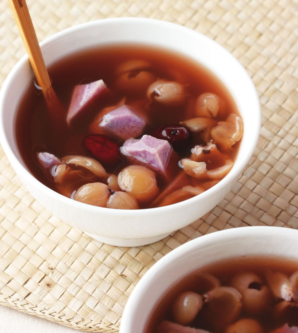 食譜:紫山藥桂圓甜湯