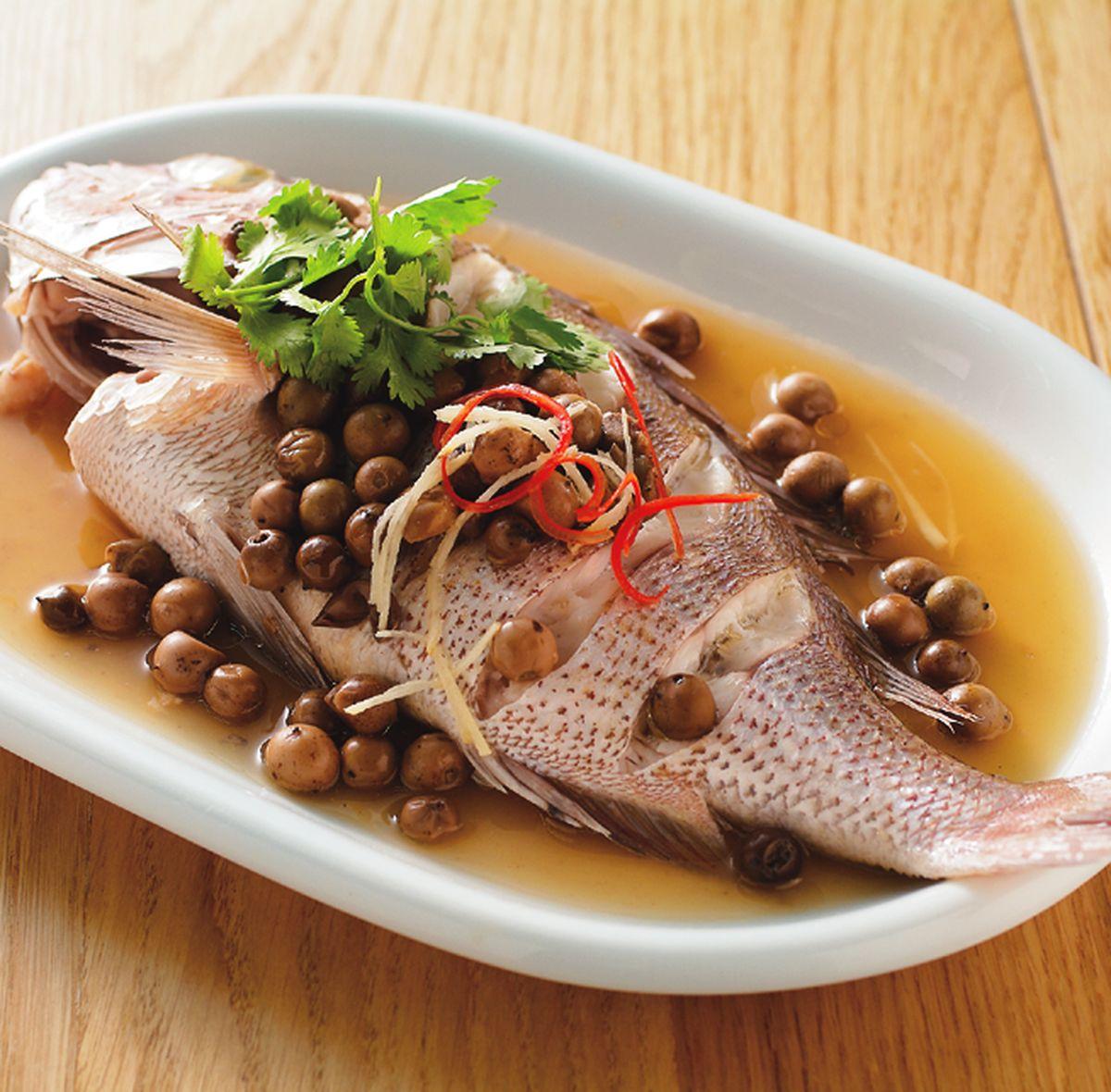 食譜:樹子蒸鮮魚