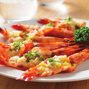 蒜茸蒸草蝦