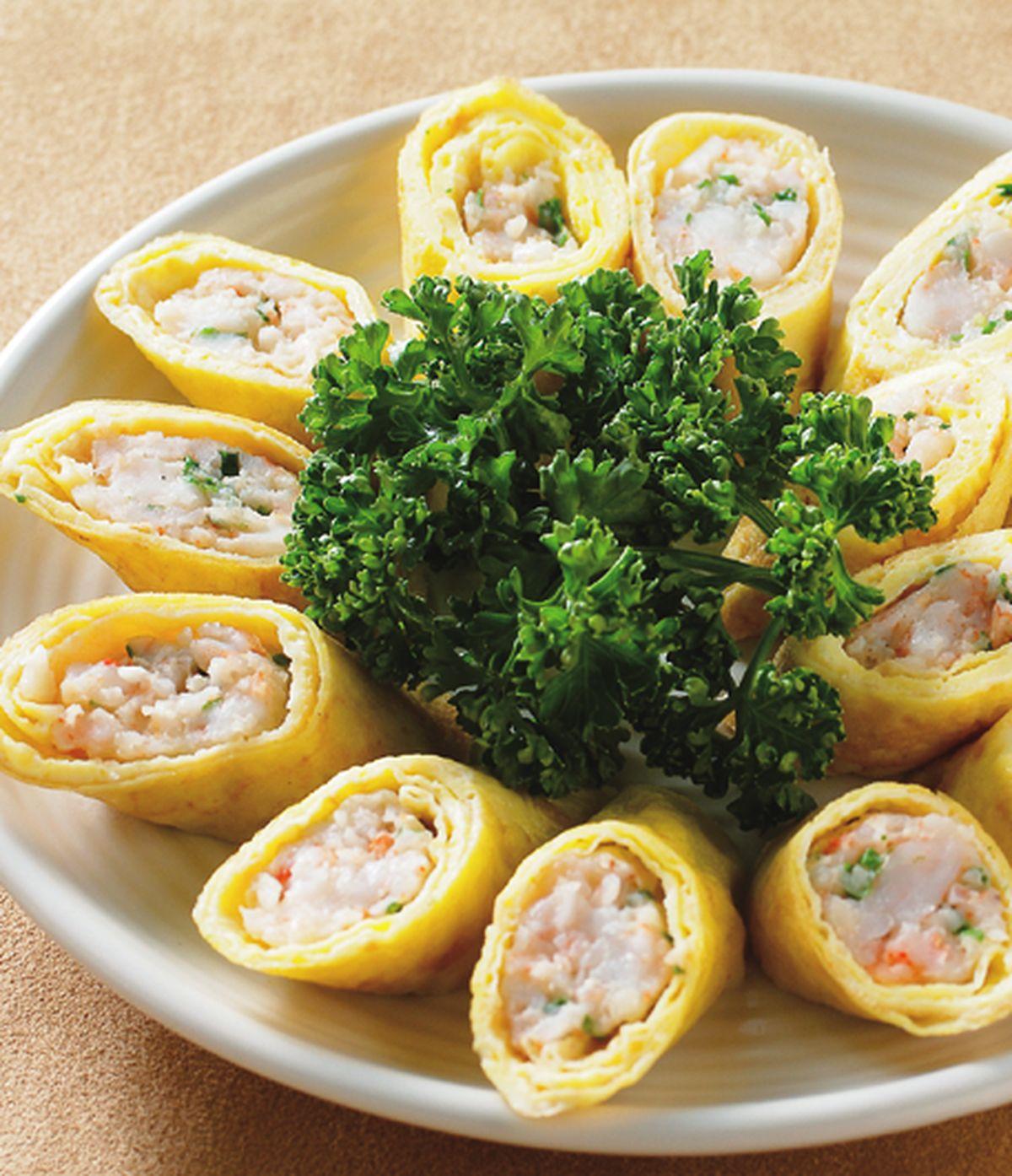 食譜:鮮蝦蛋皮捲