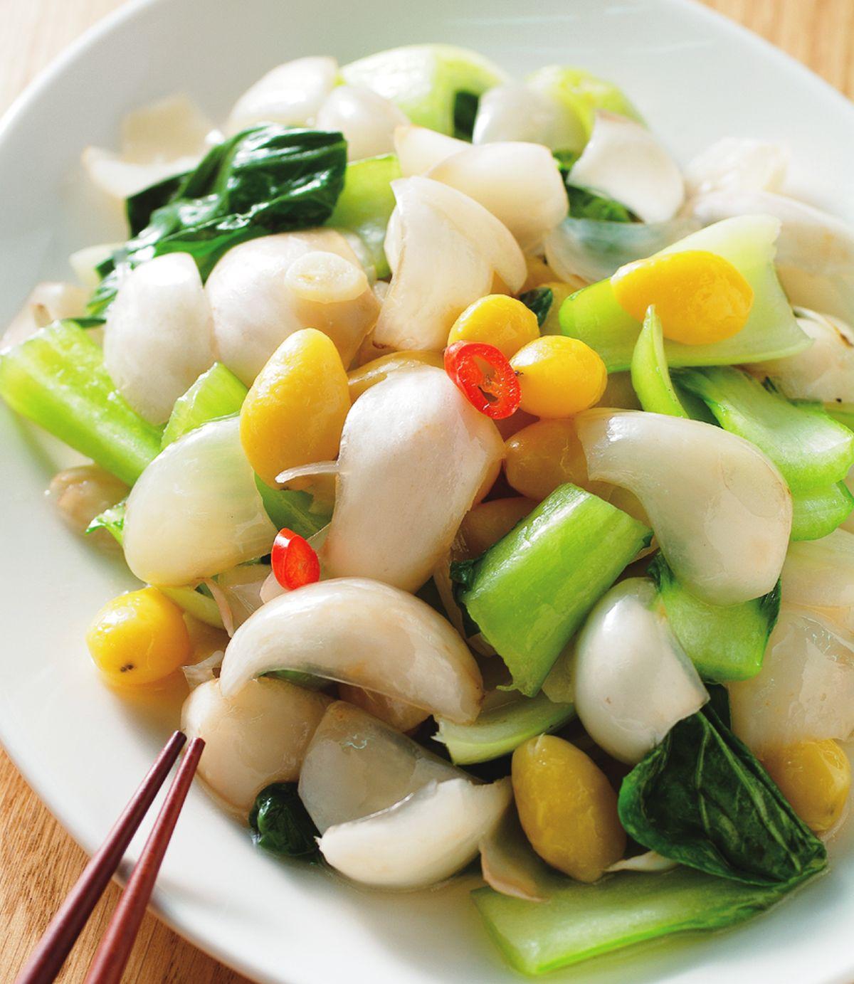 食譜:青江菜燴百合白果
