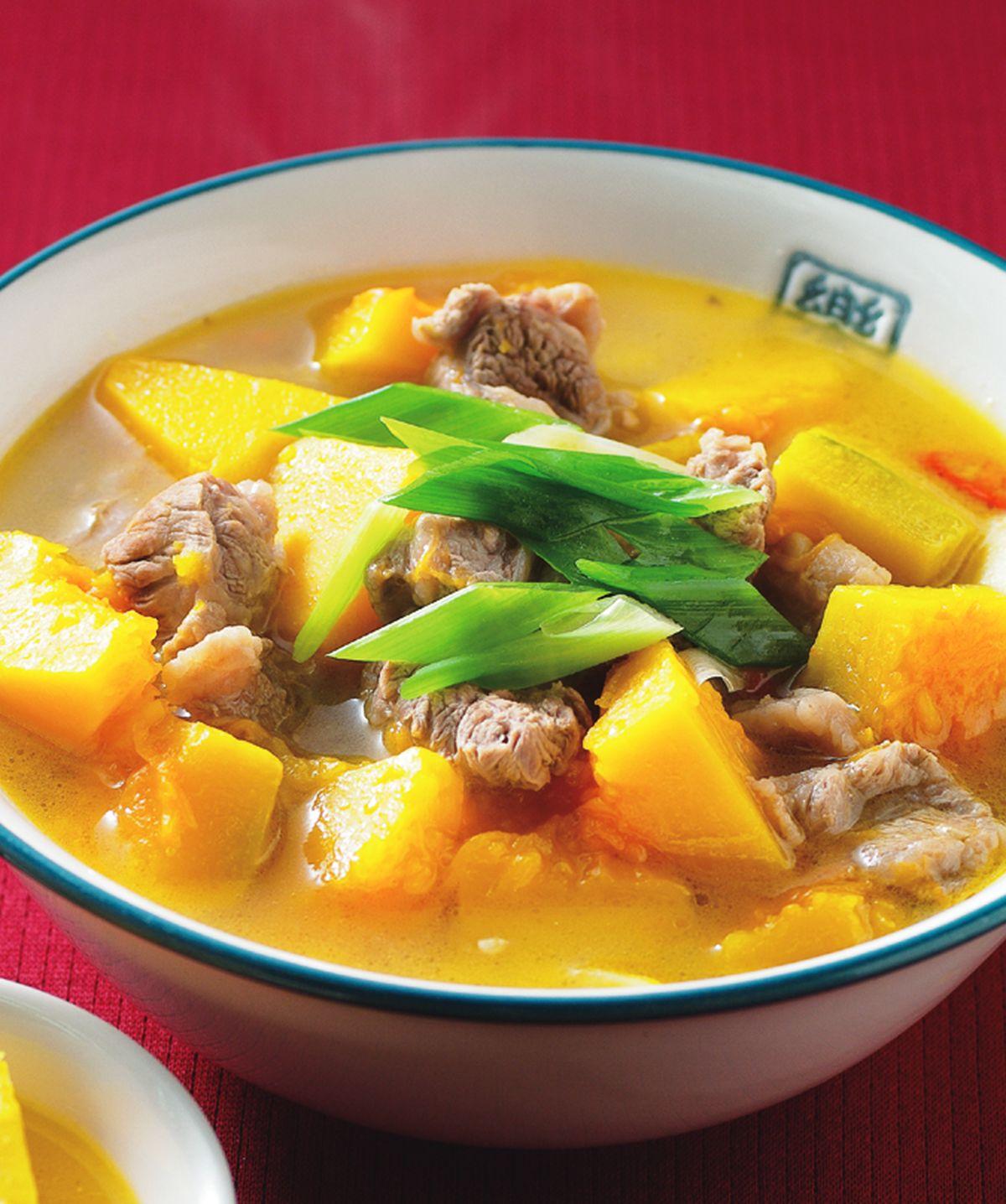 食譜:南瓜牛肉湯